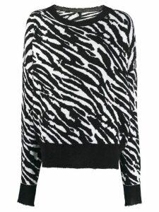 Unravel Project zebra print sweater - Black