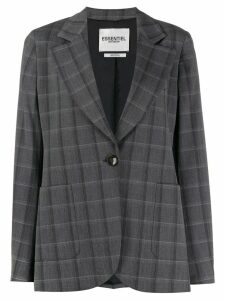 Essentiel Antwerp plaid print blazer - Grey