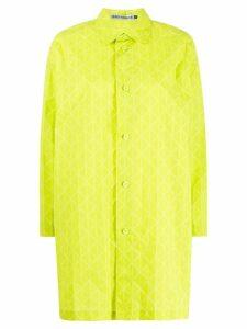 Issey Miyake geometric printed shirt - Yellow