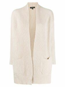 Antonelli ribbed knit cardigan - Neutrals