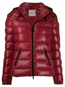 Moncler glossy padded jacket - Red