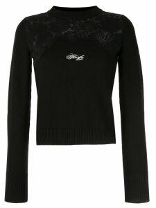 Philosophy Di Lorenzo Serafini lace-panel sweater - Black