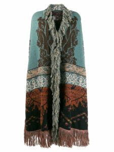 Etro draped knitted cardigan - Blue
