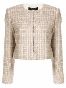Paule Ka bouclé tweed blazer - Pink