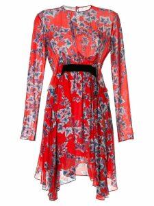 Philosophy Di Lorenzo Serafini leaf-print ruffled dress - Red