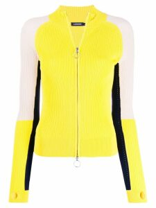 J.Lindeberg colour-block zipped cardigan - Yellow