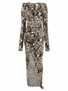 Alexandre Vauthier animal-print dress - Brown