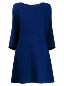 Antonelli mid-length shift dress - Blue