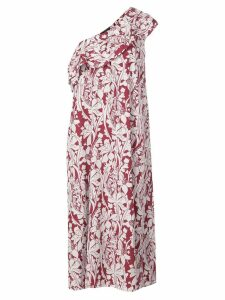 Stine Goya printed one shoulder dress - Red