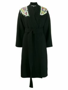 Stella McCartney shoulder patch coat - Black