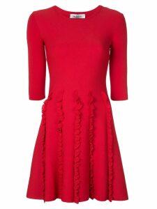 Valentino ruffle detail dress - Red