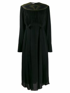 Stella McCartney panelled neckline dress - Black
