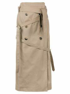 Rokh multi-button wrap skirt - NEUTRALS
