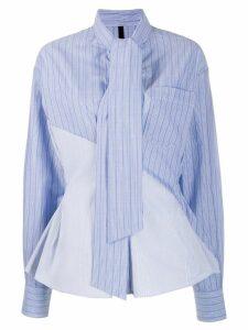 Unravel Project tie neck shirt - Blue