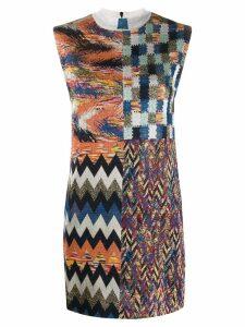 Missoni zigzag-knit mini-dress - Blue