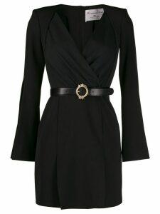 Elisabetta Franchi draped mini dress - Black