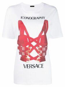 Versace harness printed T-shirt - White