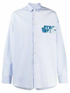 Etro Star Wars print shirt - Blue