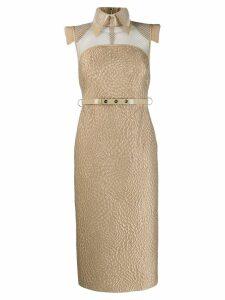 Fendi shirt tube dress - Neutrals