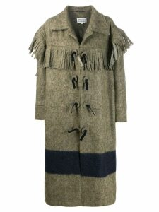 Maison Margiela fringed panelled coat - Green