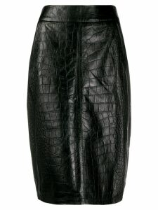 Arma leather midi skirt - Black
