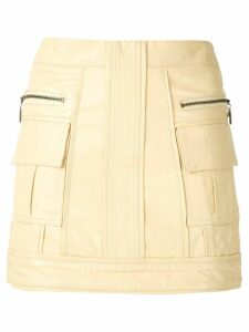 Andrea Bogosian panleld leather skirt - Yellow