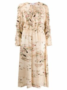 Red Valentino RED(V) floral and bird print dress - Neutrals