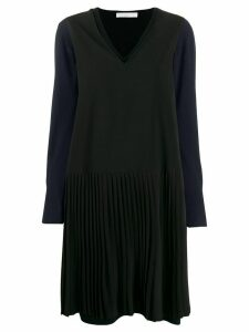 Fabiana Filippi v-neck sweater dress - Blue