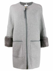 Agnona zipped overcoat - Grey