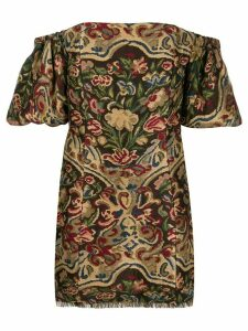 Etro off-shoulder mini dress - Neutrals