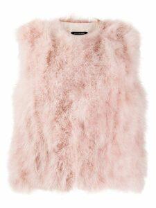 Yves Salomon feathered gilet - Pink