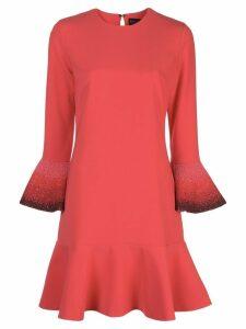Sachin & Babi embellished cuff dress - Red