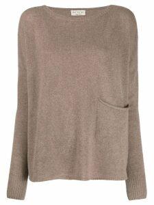 Ma'ry'ya front pocket sweater - Brown