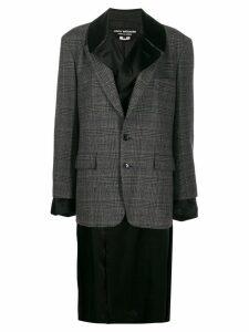 Junya Watanabe layered blazer coat - Grey