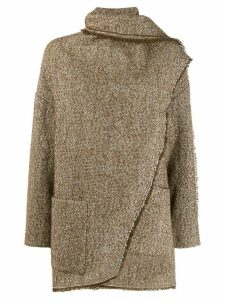 Isabel Marant Étoile draped detail coat - Green