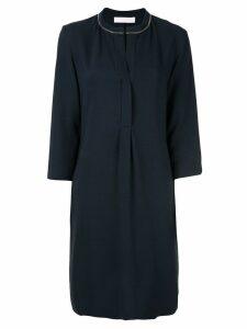 Fabiana Filippi split neck shift dress - Blue