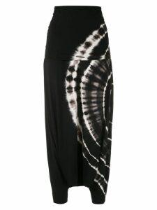 Uma Raquel Davidowicz Magnolia tie dye skirt pants - Black