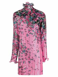 Givenchy pleated asymmetric print dress - Pink