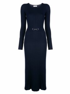 Gabriela Hearst fitted ribbed dress - Blue