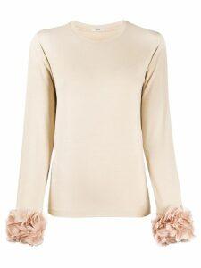 Lardini ruffle detail jumper - Neutrals