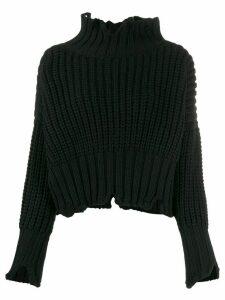 Thom Krom stand-up collar jumper - Black