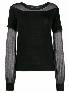 Patrizia Pepe fine knit jumper - Black