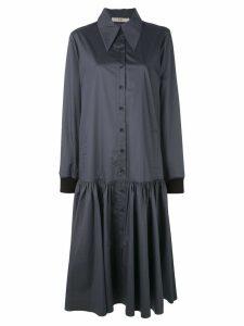 Tibi tech poplin shirt dress - Black