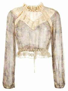 Zimmermann Sabotage Lace Yoke blouse - Neutrals