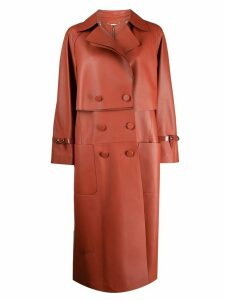 Fendi double breasted trench coat - Orange