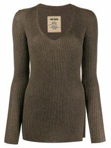 Uma Wang slim-fit cashmere jumper - Brown