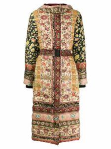 Etro bohemian print padded coat - Neutrals