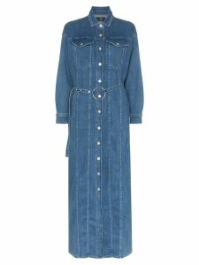 3x1 Tessa belted denim maxi dress - Blue