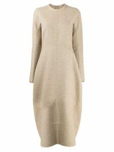 Jil Sander flared knit dress - NEUTRALS