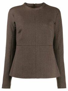 Jil Sander round neck blouse - Brown